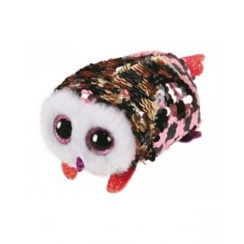 Teeny Flippable Owl Checks Pink/Blk 2In Ty42411