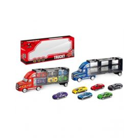 Powerjoy Vroom Truck With 6 Pieces Di Ty88133