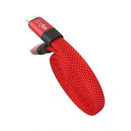Dotfes A09 Self-Rolling USB Cable for Mobile Phones - Red
