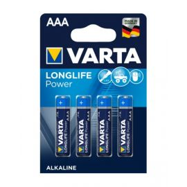 VartaLonglife Power AAA Battery - Pack of 4, VA559749