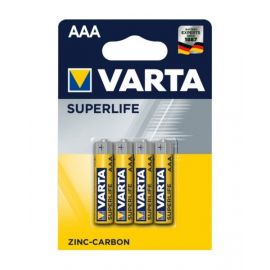 VartaSuperlife Micro AAA Zinc Carbon Battery - Pack of 4, VA676187